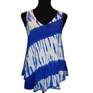 Calvin Klein Blue Tie Dye Tank Top.  056
